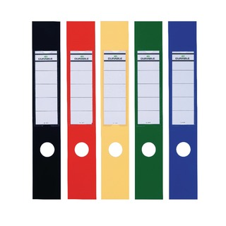 Ordofix Lever Arch File Spine Labels Assorted (10 Pack) 8090/