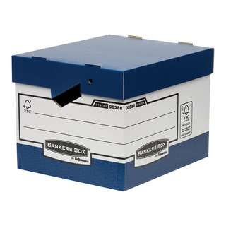 Bankers Box Heavy Duty Grey and White Ergo Box (10 Pack) 0089901