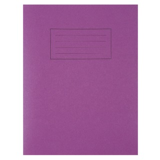 Feint Ruled With Margin Purple 229x178mm Exercise Book 80 Pages (10 Pack) EX