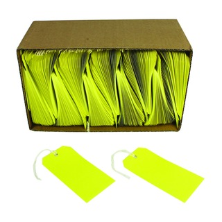 Yellow Strung Tags 120x60mm (1000 Pack)