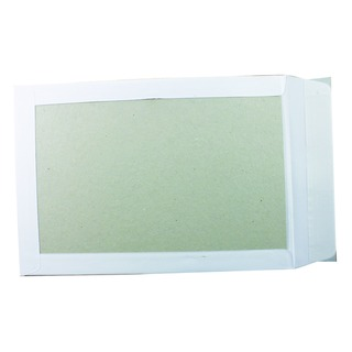 Board Back C4 Envelope 120gsm Peel and Seal White (125 Pack)