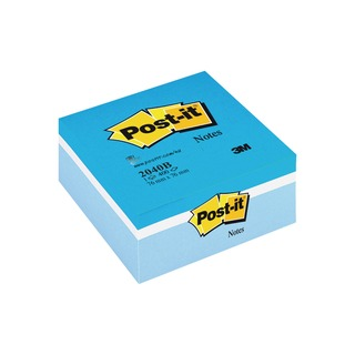 Post-it Notes Blue Colour Cube 76 x 76mm 2040B