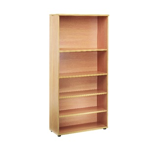 2000mm Bookcase 4 Shelf Beech
