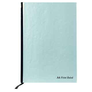 Casebound Notebook A4 Feint Ruled With Margin 192 Pages Silver (5 Pack) RULA