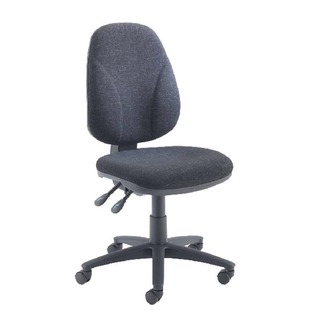 Concept High Back Permanent Contact Operator Charcoal Chair