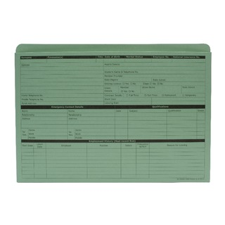 Green Personnel Wallet (50 Pack) PWG0
