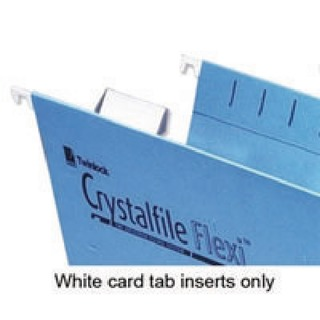 Crystalfile Flexi Tab Inserts White (50 Pack) 3000058