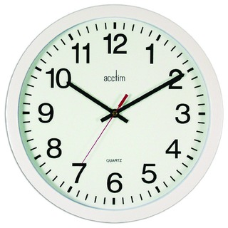 White Controller Silent Sweep Wall Clock 368mm 93/