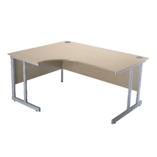 Intro Warm Maple 1500mm Radial Left Hand Cantilever Desk