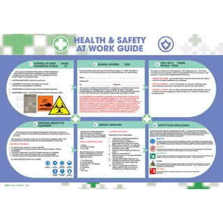 Health and Safety at Work Poster 590x420mm 5405023