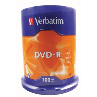 DVD-R 16x Non-Printable Spindle (100 Pack)