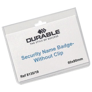 No Clip Security Badge 60x90mm (20 Pack) 8135/19