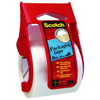 Clear Reinforced Packaging Tape 50mm x 9m With Easy Start Dispenser X.5009D
