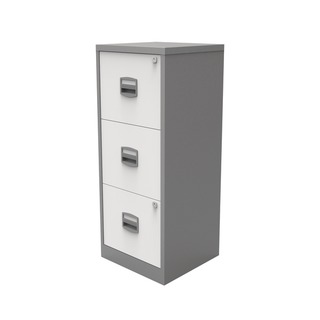 A4 Homefiler 3 Drawer Silver White