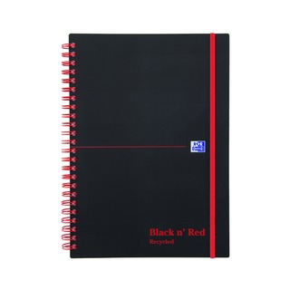' Red A5 Wirebound Polypropylene Recycled Notebook 140 Pages (5 Pack) 846350963