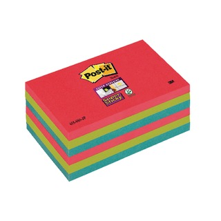 Post-it 76 x 127mm Bora Bora Super Sticky Notes (6 Pack) 70-0051-9805-