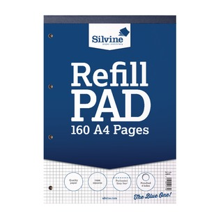 Refill Pad A4 80 Leaf Ruled 5mm Square (6 Pack) A4RPX