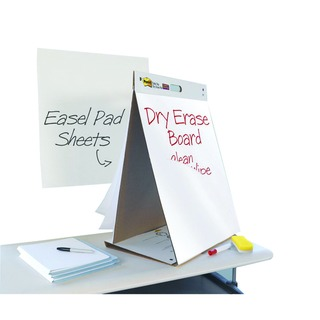 Post-it Table Top Easel Pad/Dry Erase Board 563-D