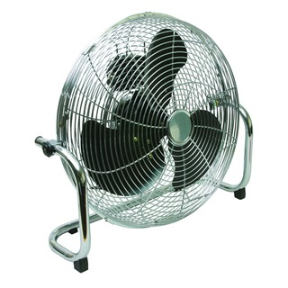 Chrome High Velocity 450mm/18in Floor-Standing 3-Speed Fan