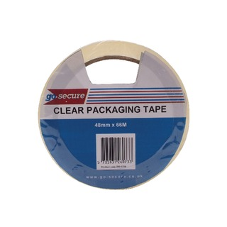 Secure Packaging Tape Clear 50mmx66m (6 Pack)