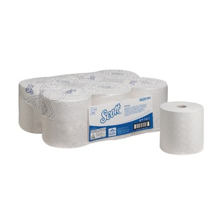 Control 1-Ply White Hand Towel Roll 250m (6 Pack) 662