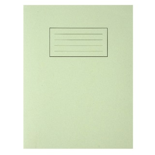 Feint Ruled With Margin Green 229x178mm Exercise Book 80 Pages (10 Pack) EX102