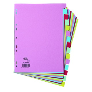 A4 15 Part Assorted Card Divider 100080774