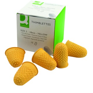 Yellow Thimblette Size 2 (12 Pack)