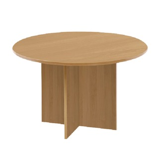 Round Meeting Table Maple