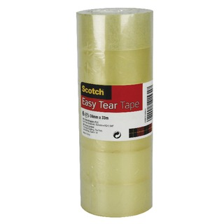 Clear Easy Tear Tape 24mm x 33m (6 Pack) ET2433T6