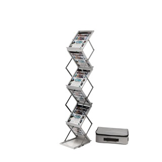 A4 Folding Stand Double Sided With Carry Case Silver DE36100