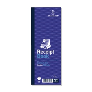 Duplicate Receipt Book Carbonless 200 Sets 241 x 92mm (10 Pack) 1