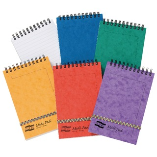 Assorted (A Pack) Midi Notepads 80gsm (10 Pack) 4935