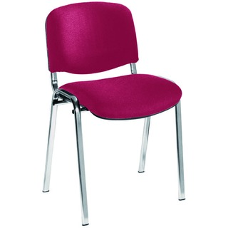Ultra Claret/Chrome Stacking Chair