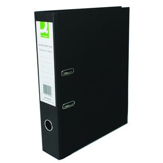 Lever Arch File Foolscap Paper Over Board Black (10 Pack)