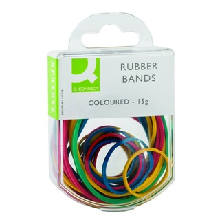 Colour 15g Assorted Rubber Bands (10 Pack)