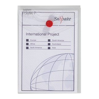 Clear A6 Portrait Polyfile P File Wallet (5 Pack) 13293