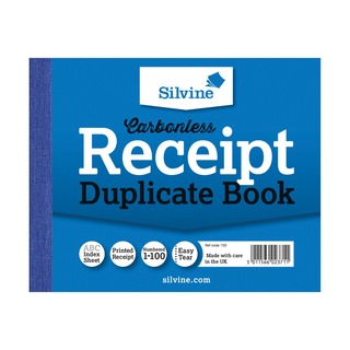 Carbonless Duplicate Receipt Book 102x127mm (12 Pack) 720-T