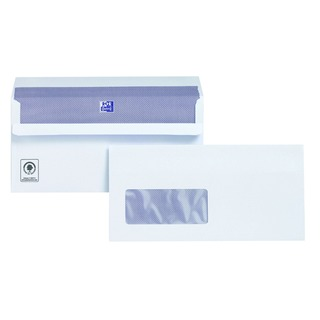 DL Window Envelope 110gsm Self Seal White (500 Pack)