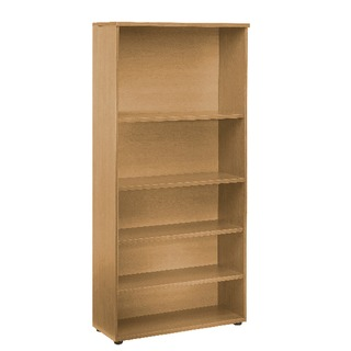 2000mm Bookcase 4 Shelf Oak