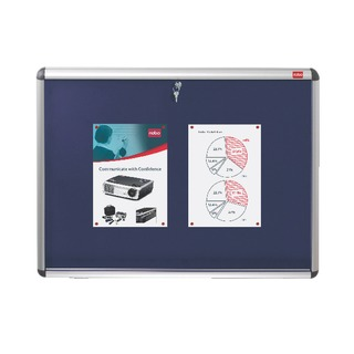 Lockable Visual Insert Board 1265 x 965mm Blue 1902049