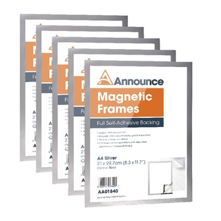 Magnetic Frames A4 Silver (5 Pack)