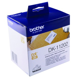 Black on White Paper Shipping Labels (300 Pack) DK1120