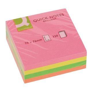 76 x 76mm Neon Quick Note Cube