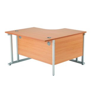 1200mm RH Cantilever Radial Desk Oak