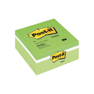 Post-it Notes Colour Cube Green 76 x 76mm 2040G