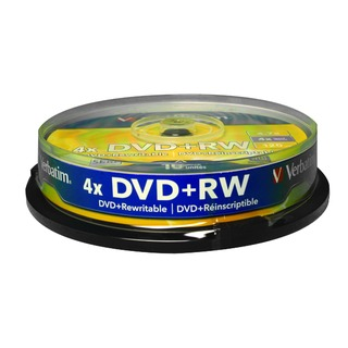 DVD+RW Silver Non-Printable Spindle (10 Pack)
