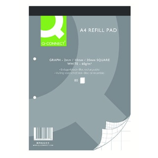 A4 Graph Refill Pad 80 Leaf (10 Pack)