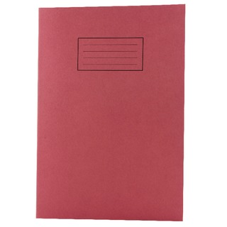 Feint Ruled With Margin Red A4 Exercise Books 80 Pages (10 Pack) EX107