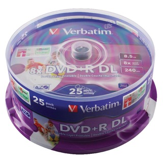 4.7GB 8x Speed Slim Case DVD+R (25 Pack) 43667